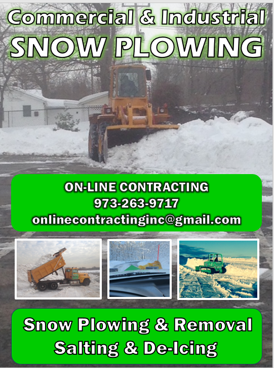 Online Contracting Snow Removal Flyer NJ